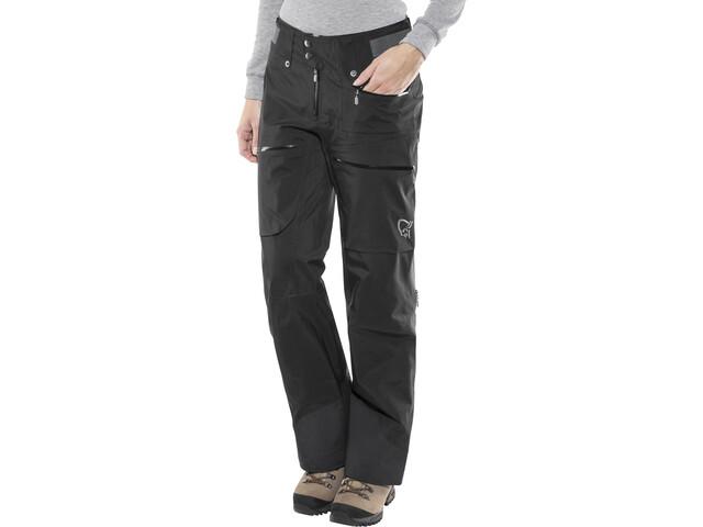 Norrøna Lofoten Gore-Tex Pro Light Pantalones Mujer, caviar